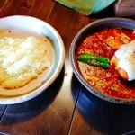 アジアンスープカリー べす - 2017/1  ハンバーグカリー4.5番+トマトスープ+トマトチーズ