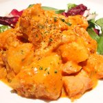 61896115 - 本日の定食ランチ 900円 の鶏モモ肉のトマトクリーム煮込み