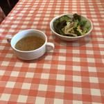 ラ・ヴォーノ - スープとサラダが付きます