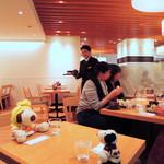 神戸風月堂 - ボキらはアイスコーヒーを注文~  ちびつぬ「つぬっこちゃん、店員さんがイケメンよ~」 (注:ちびつぬは女子力の高い、男の子です)