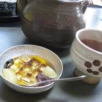 日本料理 うめ野 - デザート:ミニあんみつ