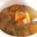 619748 - 野菜スープ かぼちゃがホクホクしてました
