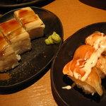 わたみん家 - お寿司3連にぎり¥418