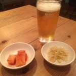 くんむる食堂 サンギュ - ビール&おかず2品