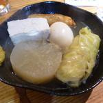 takehiro - 豆腐、玉子、大根、ロールキャベツ、ごぼてん