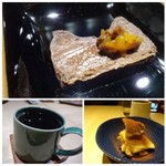 TTOAHISU - ◆これもスペシャリテの粉ものを使用していない「チョコケーキ」 ◆チョコ苦手な友人には「ティラミス」 ◆珈琲。