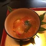 きむら - 車海老のゼリー寄せ。出汁味が素晴らしい。