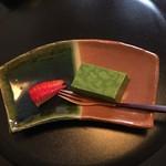 きむら - デザートは苺と抹茶のムース