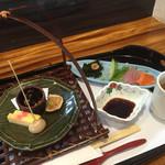さかなや 和食 幸繁 - 料理写真:ランチの和会席、前菜&刺身&薬膳スープ