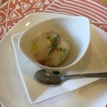 ミューゲ ブラン - 真鯛のカルパッチョ、ポテトのピューレ