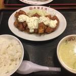 大阪王将 天童店 - 鶏南蛮定食 ¥890