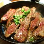 kuunel kitchen - 牛ハラミのシチリア岩塩焼き