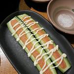 しゃぶしゃぶ温野菜 - (2016.11)かぶりキュウリ明太マヨ乗せ
