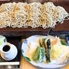 ひらつか蕎香 - 料理写真:板そば+天ぷら三種盛り+もり汁