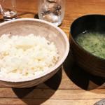 鯛めし 銀家 - お味噌汁と鯛めし♪