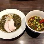 らぁめん トリカヂ イッパイ - つけ麺(抹茶麺)