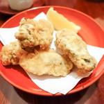 東白庵 かりべ - 牡蠣の天ぷら