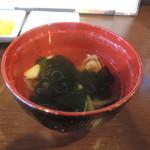 神田餃子居酒屋WARASHIBE GYOZA - スープ