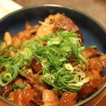お好み焼 みなと屋 - 大阪で食べるすじ煮より、あっさりしていて、コリコリとした食感の部分とやわらかい部分と2通りの食感が楽しめる『ネギコロ』、この『ネギコロ』を入れたお好み焼もあったのかな? 次回は赤穂名物のネギコロ焼も試してみたいです