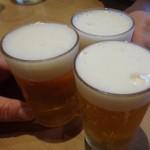 釜喜利うどん - 無料ビール