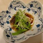 天ぷら新宿つな八 - 大海老天丼 白身魚もずくソース付