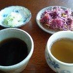 6193875 - そばツユ、お茶、お新香2種