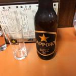 光栄軒 - ビール大瓶・税抜550円 キリン・サッポロ・アサヒから選択可