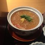 美濃吉 - オプションの蟹とふかひれの茶碗蒸し