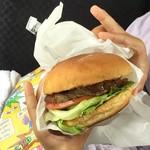 いきまつバーガー - ハンバーガー(380円)+トマトレタス(50円)