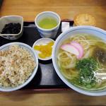 英ちゃんうどん - うどん定食650円