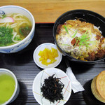 英ちゃんうどん - カツ丼定食1000円