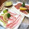 Satsumanogiyuuta - 料理写真:薩摩鶏、豚バラ