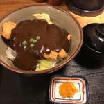 味司 野村 - デミグラスソースカツ丼