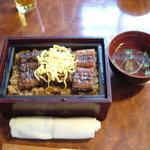 Unaginodaitou - 鰻セイロ蒸し、肝吸い付き