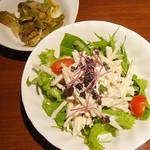 ミノコシ - サラダ、ザーサイ