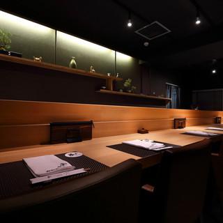 【予約必須♪】カウンター席はデートやお食事会に人気のお席です