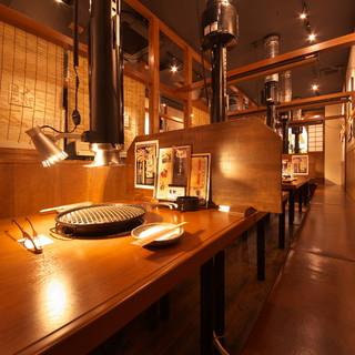 どこか昔懐かしい、昭和の香る店内