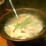 米沢亭 - [料理] 玉子スープ アップ♪w ①