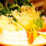とり喜 - 鍋用の野菜