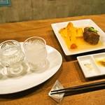 お米のじゅーす 最 - 日本酒呑み比べ & 洋風煮込み