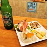 お米のじゅーす 最 - ハイネケン & 前菜の盛り合わせ