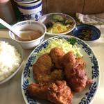 ふんよう菜館 - Aランチのトリの唐揚げ  630。 画像、奥の小壺に秘密あり!