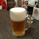 薬膳スープカレー・シャナイア - 生ビール \600