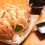魚升天ぷら盛り合せ