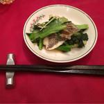 61988068 - 白身魚の鮑つつみ蒸し香味醤油ソース