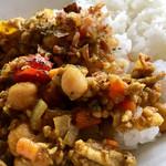 カフェ シューエ - 挽肉とひよこ豆のドライカレー ♪