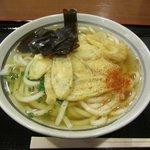 昭和亭食堂 - 私は基本のうどん280円にごぼう天100円をトッピング、ごぼう天は太切りと細切りから選べますよ。