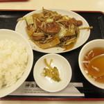 神楽坂飯店 - レバー野菜定 750円