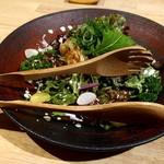 和旬菜 せつだ - 豚ロースの冷シャブと色々野菜のピリ辛サラダ
