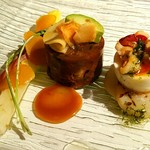 長崎 ペリニィヨン - 牛肉と野菜の煮込み寄せ フォアグラ入り 白菜からすみなど添え